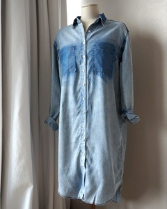 washing denim dress