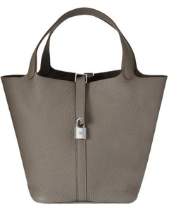 Picotin togo leather bag(M/L)