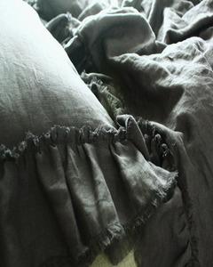 tuft ruffle bedding charcoal