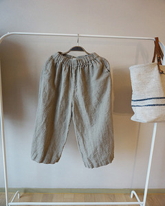 (LINEN BY G)  WIDE  PANTS